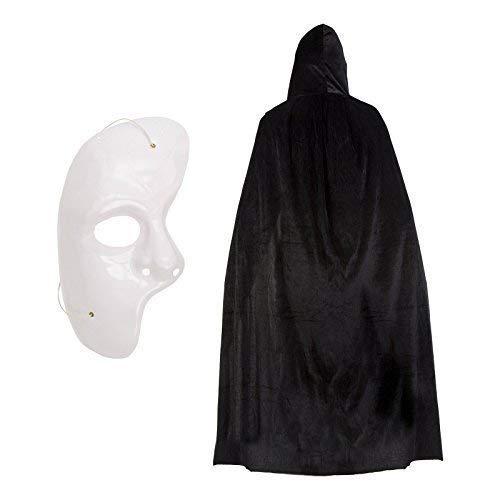 Phantom der Oper Halloween Kostüm Satz (Polyester Umhang & Maske) (Halloween-kostüme Phantom Oper Der Das)