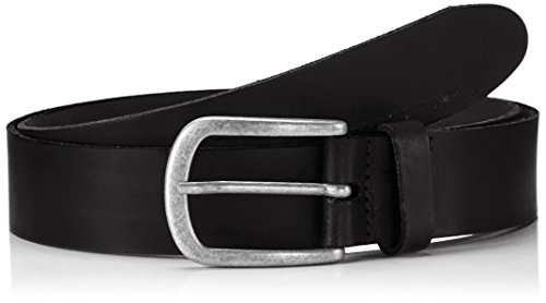 JACK & JONES Herren Gürtel Jjiace Leather Belt Noos, Schwarz (Black), 80 cm (80)