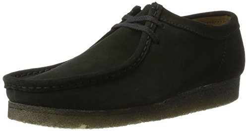 Clarks originals wallabee, mocassini uomo, nero (black sde), 45