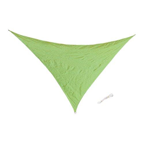 Sharplace Voile d'Ombrage Imperméable Auvent de Triangle Lavable Résistant Soleil Durable - Vert, 5m