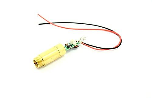 3-4.2V grüner Laser 532nm 5mw Diodenlaser-Punkt-Modul w/Kabel & 12X60mm - 1260 Laser