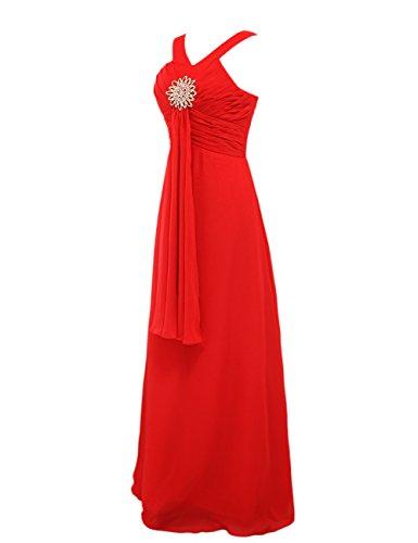 Dressystar Robe femme, Robe de soirée/ Cérémonie longue, à fleur, en Mousseline Blush
