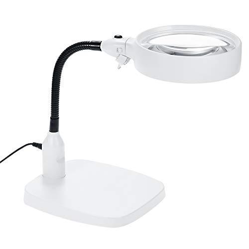 Desktop-Lupe LED Tischlampe 10X Linse Helles Licht Werkzeugreparatur FüR äLtere Menschen Makuladegeneration Lesen ÜBerprüFen Sie Die KartenmüNzen