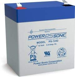 Power-Sonic PS-1242 Sealed Lead Acid (VRLA) 4,5 Ah 12 V - Batteries de l'onduleur (Sealed Lead Acid (VRLA), Bleu, Gris, 4,5 Ah, 12 V, 1 pièce(s), 5 année(s)) par Power-Sonic