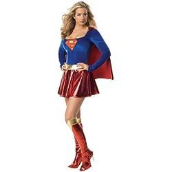 Rubbies - Disfraz de Supergirl para mujer, talla 40 - 42 (I-888239M)