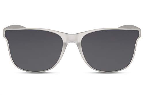 Cheapass Sonnenbrille Neu Klassischer Stil Matt-Transparent mit dunklen Gläsern 100% UV400 Schutz für Männer und Frauen