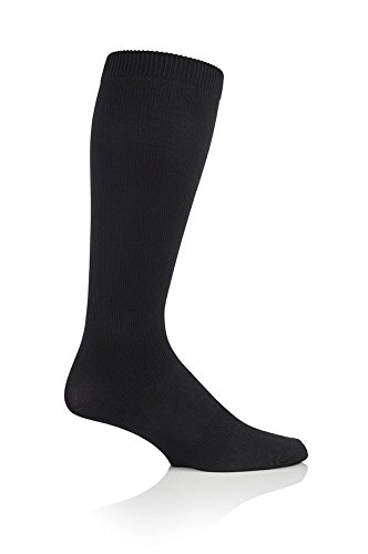 1 Pair BIGFOOT Compression DVT Flight / Travel Socks 12-14 uk / 47-50 eur Black Sockshop