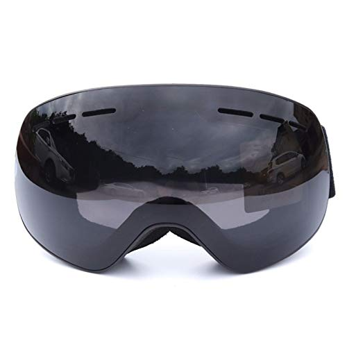 KnSam Winddicht Uv-Beständig Schutzbrille Für Brillenträger Kratzfester Scheibe Panoramablickfeld Schwarz Schutzbrille