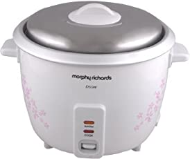 Morphy Richards D55W 1.5-Litre 350-Watt Electric Rice Cooker (Floral Design and White)