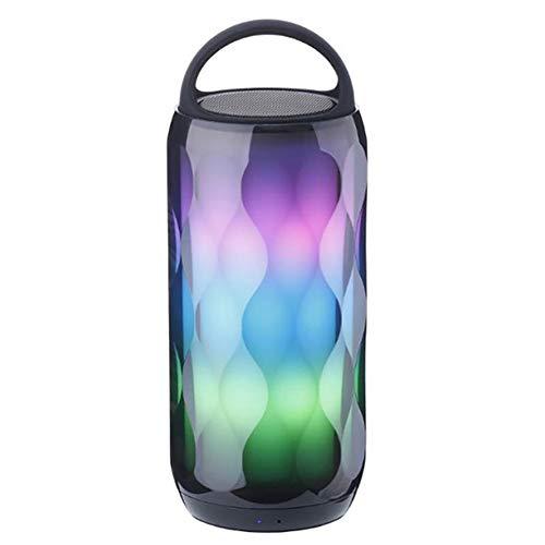 AN LED Bunte Lautsprecher, Umgebungslicht Bluetooth-Lautsprecher High-Definition-Sound-Qualität Subwoofer Touch-Taste Wireless Portable Audio Audio-qualität