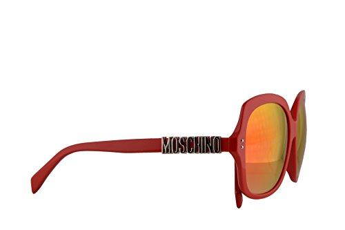 Moschino MOS014/F/S Sonnenbrillen Rot Mit Roten Verspiegelten Gläsern 57mm C9AUZ MOS014/S MOS 014S MOS 014/S MOS014S MOS 014/F/S