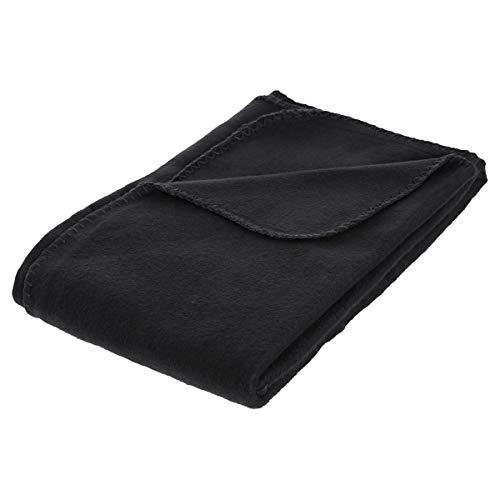 Plaid polaire noir 125x150cm