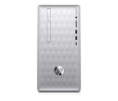 HP Pavilion 590-p0633ng Desktop PC (AMD Ryzen 3, 8 GB DDR4 RAM, 1 TB HDD, 128 GB SSD, AMD Radeon Vega 8, ohne Betriebssystem) silber
