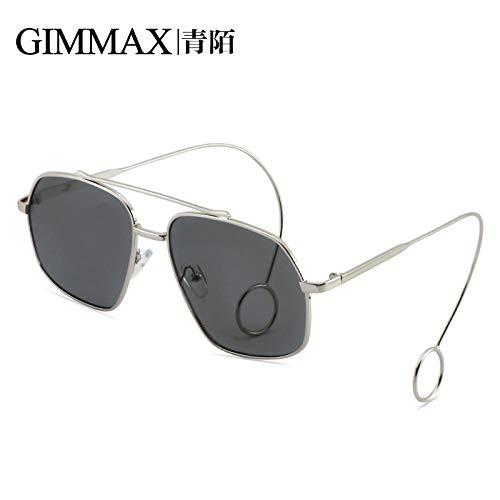 RNG Net roten Brillengestell Flut männlichen LIU Haoran Retro-Ohrringe Flachspiegel weiblichen Ins koreanischen Sonnenbrille Persönlichkeit Myopie Augen