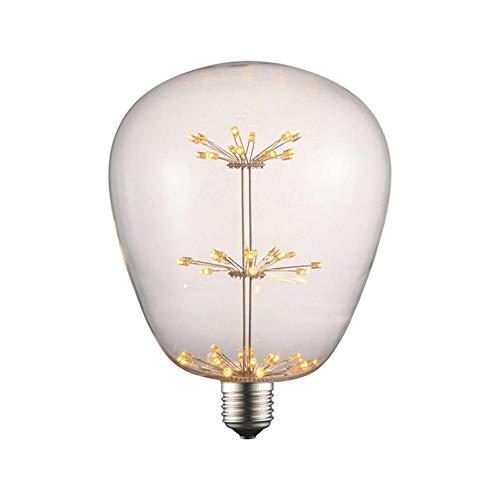 YANKAN Edison GlüHlampe Vintage LED Sternenhimmel Lampe GroßE Dekorative Ovale Lampe Licht E27 3W Warm Weiß 85-265V (145 * 190Mm)