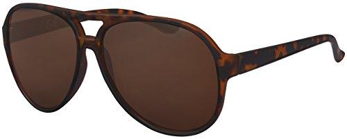 La Optica UV 400 Herren Retro Sonnenbrille Pilotenbrille Fliegerbrille - Einzelpack Rubber Tortoise (Gläser: Hell))