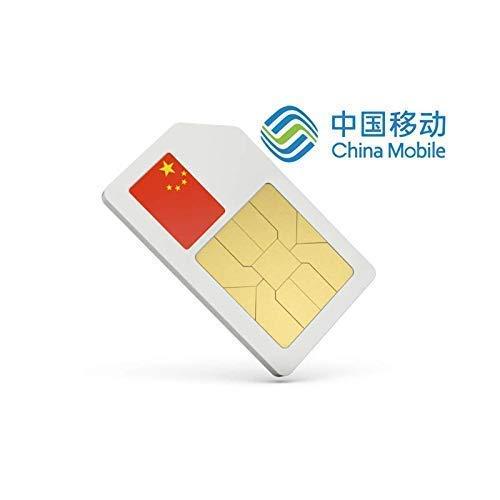 MySim Carte sim Chine prépayée avec 4 go de données en débit 4g pour 10  Jours Roaming sur China Mobile
