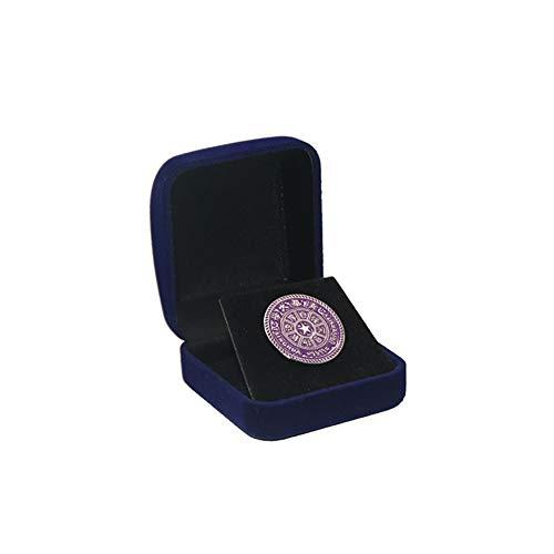 1Stk Velvet Display Box für 1 Große Münze Kapsel/Herausforderungs Münze  Äußere Blau Inner Schwarz Home Zubehör -