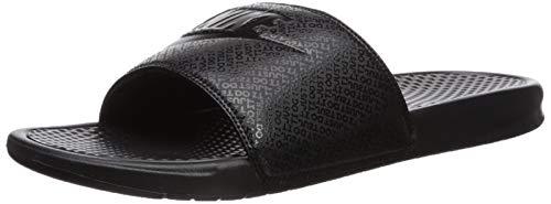 Nike benassi jdi, scarpe da ginnastica basse uomo, multicolore (nero / bianco), 41 eu