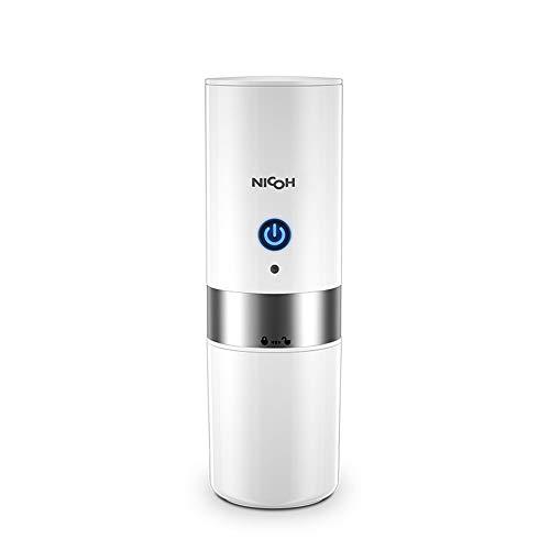 Kapsel Kaffeemaschine, Kleine Automatische Kaffeetasse Tragbare Mini-Kaffeemaschine, Familienreisebüro (Schwarz Und Weiß),White - Kaffeemaschine Mit Batterien