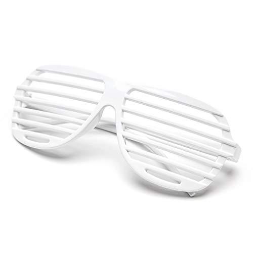1 Stück Weiß Kunststoff Fensterlädenbrillen Jalousie Sonnenbrille Geschlitzte Blackout Brillen Party Favors Kostüm zum Kinder & Erwachsene von SamGreatWorld