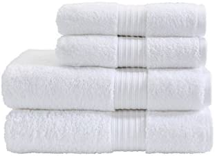 Fresh from Loom Cotton 2 Hand Towels and 2 Face Towels (White)