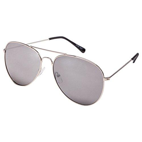 Ciffre EL-Sunprotect® Pilotenbrille Fliegerbrille Sonnenbrille Brille Top Design Silber Voll Verspiegelt