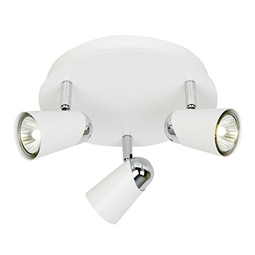 Endon Lighting Plafionnier rond 3 spots - Blanc