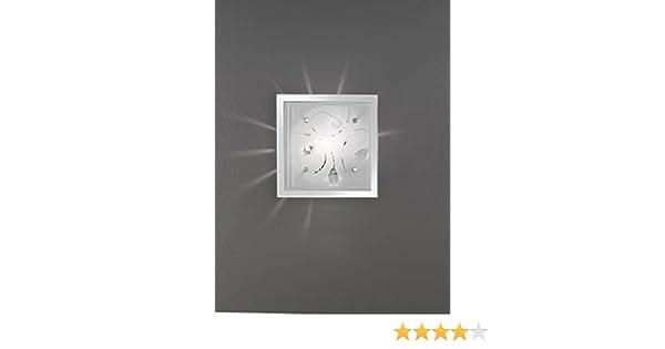 Plafoniere Quadrate Da Parete : Plafoniera quadrata perenz da parete o soffitto