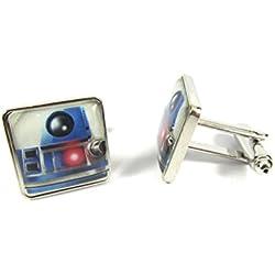 Star Wars - Gemelos esmaltados con diseño de R2D2