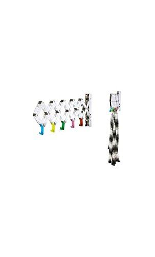 Present time - Porte manteau extensible chrome et multicolore