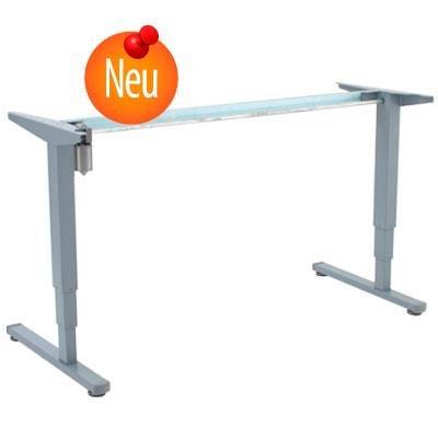 Conset Elektrisch Verstellbarer Säulentisch Stehpult Schreibtisch, Grau 112cm