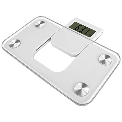 Badwaage kompakt LCD-Display Personenwaage 150 kg digital Körperwaage Waage Glas Gewichtswaage