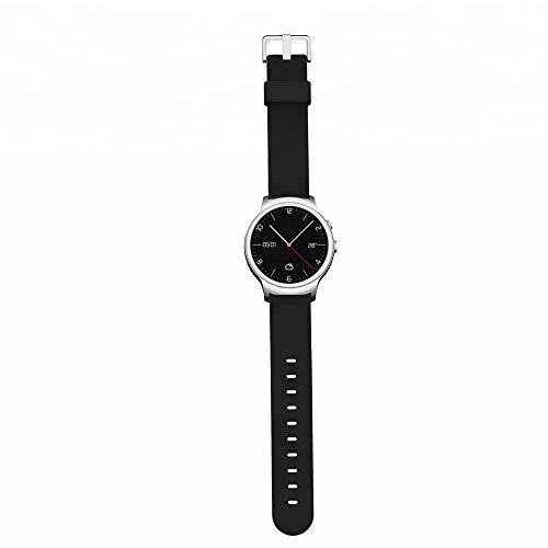 NinJaSun Bluetooth Smart Watch, Runde 1,5 Zoll Fitness Activity Tracking Eye IP67 wasserdicht HD Video Smart Watch,Silver