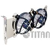 Titan TTC-SC07TZ(RB) Carte vidéo Ventilateur ventilateur, refroidisseur et radiateur - Ventilateurs, refoidisseurs et radiateurs (Carte vidéo, Ventilateur, 9,5 cm, 1000 tr/min, 1800 tr/min, 15 dB)