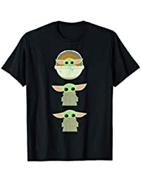 Star Wars The Mandalorian The Child Cartoon Poses Camiseta