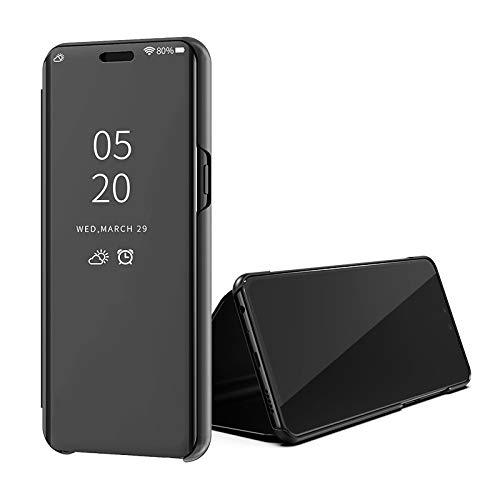 SWMGO® Espejo Enchapado Flip Funda para Xiaomi Redmi Go/Xiaomi Redmi 5A (Negro)