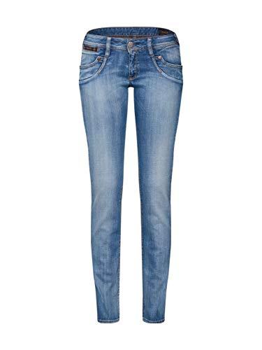 Herrlicher Damen Slim Jeans Piper, Blau (Navy Blue 032), W29/L32 (Herstellergröße: 29) -