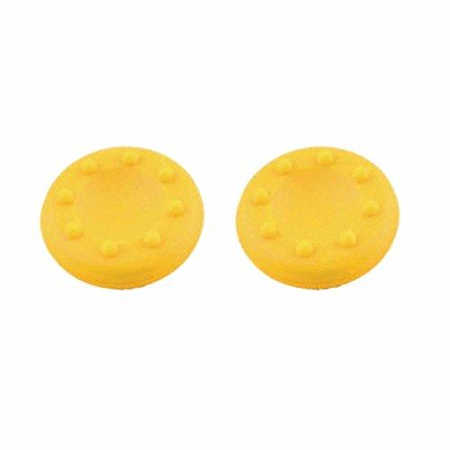 Preisvergleich Produktbild 1 Paar Joystick Thumbstick Kappe Kappen für PlayStation 4 PS4 Controller Gelb