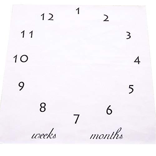 Deanyi Baby Milestone Decke Fotografie Props Kulisse Foto Prop das Wachstum Ihres Babys Säuglings Baby Pucken Monat Decke für Fotografie New Mom Babyparty Geschenke zu verfolgen Baby Produkt