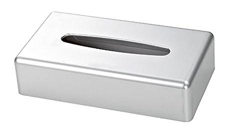 Satin Chrome Rectangle Tissue Box Cover (Case Qty