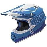 Scott 350 Pro Stratum MX Enduro Motorrad / Bike Helm blau/weiß 2014: Größe: XL (61-62cm)