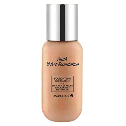 Youth Velvet Foundation - Lasting Performance Foundation Light Perfect Match Foundation Concealer ull Coverage Foundation Flüssig Make-up für die perfekte Grundierung Für die perfekte (05) -