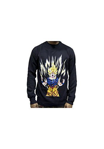 Magic custom - sweat col rond san goku supsayan Gris