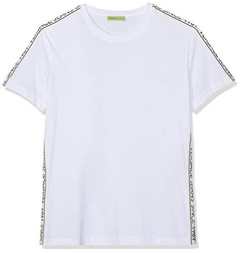 Versace Jeans Couture Herren Man Man T-Shirt Pullunder, Weiß (Bianco Ottico 003), Small
