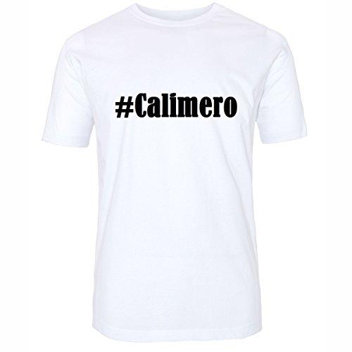 T-Shirt #Calimero Hashtag Raute für Damen Herren und Kinder ... in der Farbe Weiß Weiß