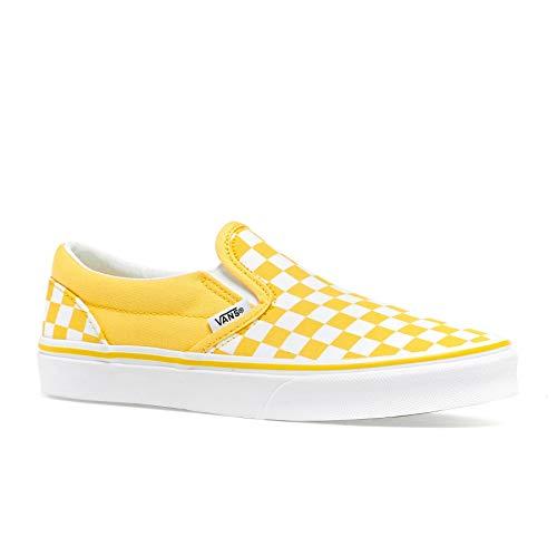 Vans Classic Kids Slip On Shoes 28 EU Checkerboard Aspen Gold True White