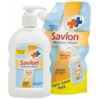 Savlon Super Saver Pack Liquid Handwash - Moisture Shield, 220 ml + 185 ml Pouch