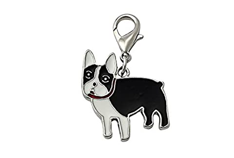 OHA Pet Bouledogue Français Charm – French Bulldog Porte-clés en noir collier