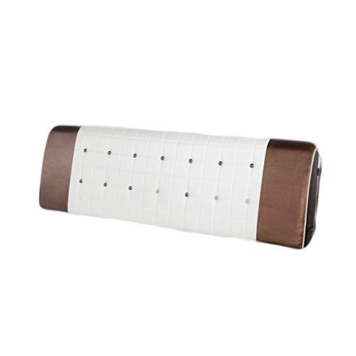 JAZC Kopfteil Kissen Bett Bedside Rückenkissen Lederbett Rückenlehne Rückenlehnenkissen Lesen Sie Rückenlehnenkissen groß (Color : Coffee, Size : 150X10X58CM)